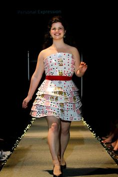 Playing Card Dress Made To Order by OffToCon on Etsy, $150.00