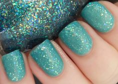 Sinful Colors Nail Junkie layered over Open Seas