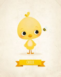 This little chick print would look adorable in any nursery or for any grown up…
