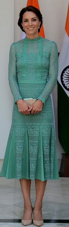 Kate Middleton: Shoes – L.K.Bennett  Dress – Temperley London