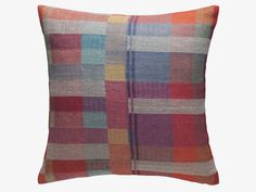 MONICA MULTI-COLOURED 45 x 45cm multi-coloured linen and silk cushion - HabitatUK