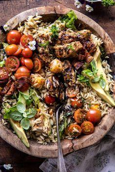 Orzo Recipes, Salad Recipes, Dinner Recipes, Cooking Recipes, Healthy Recipes, Dinner Ideas, Meal Ideas, Yummy Recipes, Gastronomia