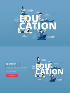 Educational Website Banners Denim Banners