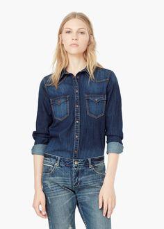 Chest-pocket denim shirt