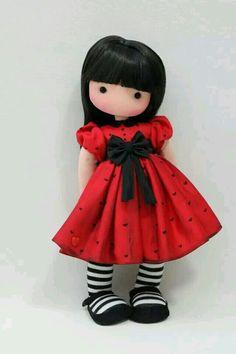 doll inspired by a drawing by Susan Wolcott Doll Crafts, Diy Doll, Fabric Dolls, Paper Dolls, Doll Toys, Baby Dolls, Sewing Dolls, Little Doll, Waldorf Dolls