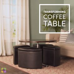 What can your coffee table do? What can your coffee table do? What can your coffee table do? Compact Furniture, Folding Furniture, Multifunctional Furniture, Bedroom Furniture Design, Smart Furniture, Space Saving Furniture, Home Decor Furniture, Table Furniture, Modern Furniture