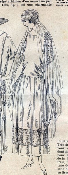 La Mode ILLUSTREE 20 May 14 1920 with Pattern Sheet Corset Wedding Gown