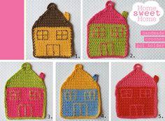 Crochet Pot Holders Home sweet home pot by Melimebabybeeshop, $20.00