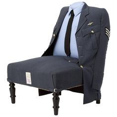 The Royal Air Force Uniform Chair | From a unique collection of antique and modern chairs at https://www.1stdibs.com/furniture/seating/chairs/