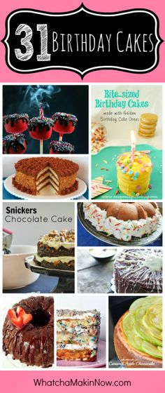 31 Birthday Cake Recipes perfect for any birthday party! #reciperoundup