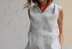 Christina DeSmet design   raw linen shirt with original selvedges   DeSmitten