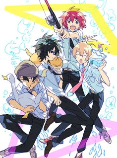 Akira, Natsuki, Haru, & Yuki (Tsuritama) ~ fishing princes