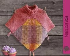 Items similar to Pink and pastel tones baby girl poncho with collar on Etsy Girls Poncho, Baby Poncho, Crochet Poncho, Crochet Baby, Weaving Patterns, Knitting Patterns, Poncho Patterns, Loom Weaving, Hand Weaving