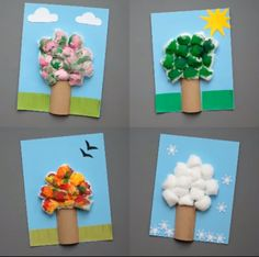An Easy Four Season Paper Roll Tree Craft For Kids To Make And Celebrate The Changing Of Seasons