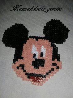 Mickey Mouse hama beads by Manualidades Gemisa