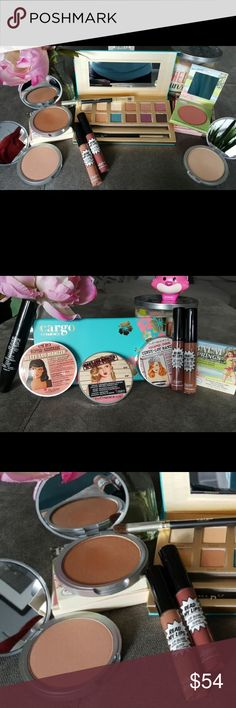 2017 Aloha Gorgeous🌺TheBalm & Cargo Cosmetics NIB 2017 Aloha Gorgeous Collection🌺featuring TheBalm & Cargo Cosmetics, all items BNIB💯Authentic, batch numbers shown to display authenticity. Cargo Cosmetics Limited Edition You Had Me at Aloha Palette, TheBalm Betty Lou Manizer bronze highlight,Cindy Lou Manizer pink Highlight & Mary Lou Highlighter. TheBalm BalmSprings Blush,&TheBalm What's Your Type Black Mascara. TheBalm Read My Lips Lipglosses: GRRR & Snap! This limited edition…