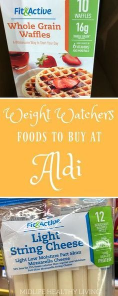 Today I'm sharing with you the Weight Watchers foods to buy from Aldi stores. Aldi stores are a great way to save on the foods you love that also happen to be perfect for the Weight Watchers Freestyle program. Weight Watchers Snacks, Weight Watcher Dinners, Weight Watchers Tipps, Petit Déjeuner Weight Watcher, Weight Watcher Shopping List, Programme Weight Watchers, Weight Watchers Meal Plans, Weight Watchers Breakfast, Weight Watchers Smart Points