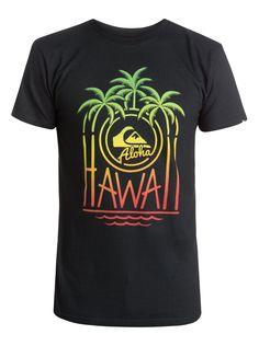 quiksilver, Aloha Motel T-Shirt, Anthracite (kvj0)