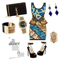"""The Last Dance"" by trendygyalstyling on Polyvore featuring Hervé Léger, Prada, Yves Saint Laurent, Michael Kors, Henri Bendel, Rolex, Marie Hélène de Taillac and Anja"