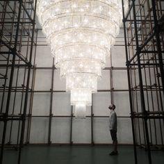 Ai Weiwei Chandelier in Springs Center of Art, Beijing. Photo: Kasia Galak