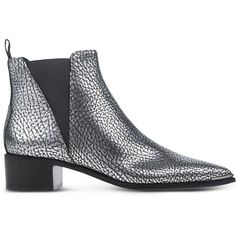 Acne Studios Ankle Boots (€255) ❤ liked on Polyvore featuring shoes, boots, ankle booties, ankle boots, silver, leather ankle booties, rubber sole boots, leather ankle boots, bootie boots and leather booties