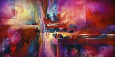 city Of Fire Painting  - city Of Fire Fine Art Print - Michael Lang