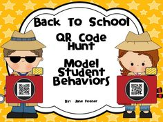 Make teaching Back to School expectations more exciting this year by having your students search for QR code clues to model student behaviors.