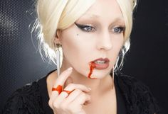 The Countess Lady Gaga Halloween makeup by Erica Gamby
