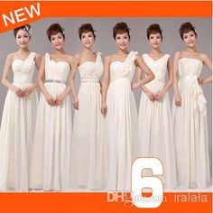 Bridesmaid Robe Brides Maid A-line Dresses 2014 Floor Length Womens Summer Dress Long Champagne Color for Weddings W1625, $23.77 | DHgate.com