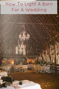 The best ideas on how to add lights to a barn so it can be the perfect wedding space. See some great barn weddings now on RusticWeddingChic.com Note: your photographers will be silently thanking you all night for lighting your reception space. -Heather #WhatPhotographersThink