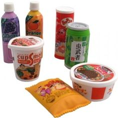 Iwako Eraser Set: Drinks and Snack Foods