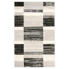 Maryl Area Rug - Black / Light Gray ( 5' X 8' ) - Safavieh