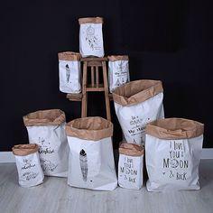 l-e-a-b-o - Paper Bag Handmade Crafts, Diy And Crafts, Paper Crafts, Gift Shop Displays, Paper Bag Design, Paper Pot, Fabric Bins, Kids Corner, Diy For Kids