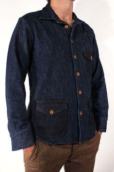 1eba003dfa0 Scarti-Lab Shirt Jacket 401-SG952 Woven Indigo Denim