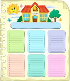 "Photo from album ""Расписание уроков"" on Yandex. Timetable Planner, School Timetable, Indoor Games For Kids, Page Borders Design, School Frame, Background Powerpoint, School Bus Driver, School Painting, School Clipart"