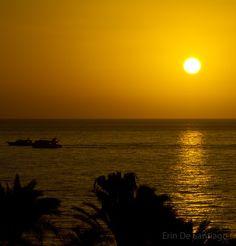 Dive boats at sunrise in Sharm El Sheikh, #Egypt (Photo: Erin De Santiago, No Checked Bags)
