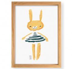 Emilia the rabbit Wall Art - Monoblock