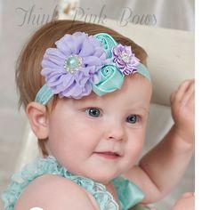 1 peças nouveau - né mignon bébé perle Rose fleur bande de cheveux en mousseline de soie bébé bandeau ruban élasticité cheveux accessoires chapeaux W171