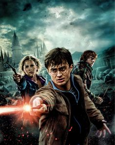Harry Potter and the Deathly Hallows: Part 2 - Harry, Ron, and Hermione search for Voldemort& remaining Horcruxes in their effort to destroy the Dark Lord as the final battle rages on at Hogwarts. Harry Potter 7.2, Harry Ron Hermione, Images Harry Potter, Hermione Granger, Harry Harry, Michael Gambon, Deathly Hallows Part 2, Harry Potter Deathly Hallows, Dvd Film