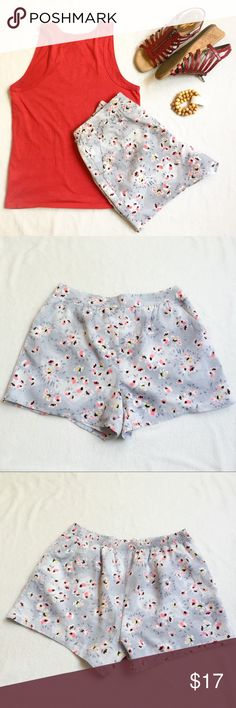 NWOT LC Lauren Conrad Floral Soft Shorts NWOT tried on but never actually worn. Floral print soft shorts. Fully lined, working pockets. Flat Front, Elastic back, 4in Inseam. Very cute. LC Lauren Conrad Shorts