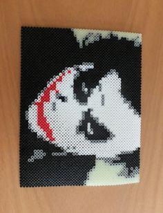 The Joker Glow in the Dark Perler Bead Portrait by MostFavoriteAunt