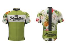 Recent design for a Hawaiian themed bike kit for local Bike Shop (The Peddler Bike Shop - Austin Texas)