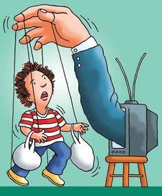 A alienação exercida pela televisão é muito forte hoje em dia devido à importância que a população comum dá a programação de entretenimento...