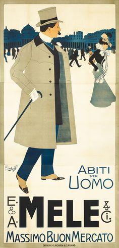 Poster 1901  Laskoff, Franz  E & A Mele & Co./Abiti Per Uomo (City)  Art Nouveau style