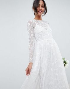 02873c892128 EDITION all over embellished and embroidered wedding dress