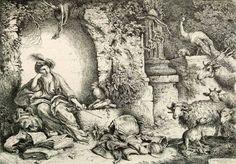 43 - Эрмитаж. Шедевры - 5 - Terra Incognita. Сайт Рэдрика  Кастильоне, Джованни Бенедетто - Цирцея, превращающая спутников Одиссея в животных