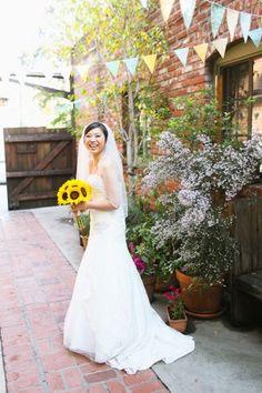 Aqua and Sunflower Wedding