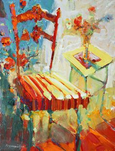 Robert Burridge - I like his bold use of color and expressive strokes.