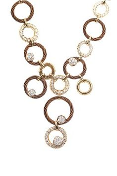 HauteLook | Charriol: 18K Yellow Gold Diamond & Nautical Cable Multi-Circle Cluster Drop Necklace - 0.09 ctw