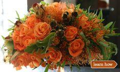 Thanksgiving flower arrangement